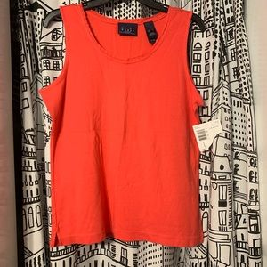 Liz Claiborne Tops - Coral tank top with lace neckline